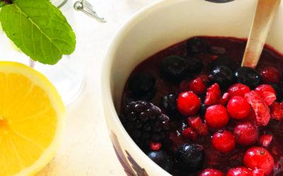 Recette sorbet aux fruits rouges et au citron