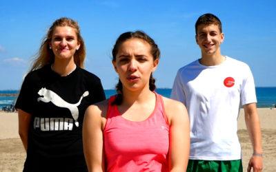 Entrainement à la plage en trio